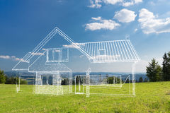 Designer house concepts. Royalty Free Stock Images