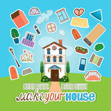 Designer  house illustration Royalty Free Stock Photo