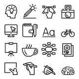Designer icon set in thin line style Stock Photography