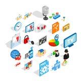 Designer icons set, isometric style. Designer icons set. Isometric set of 25 designer vector icons for web isolated on white background Stock Photography