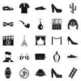 Designer icons set, simple style. Designer icons set. Simple set of 25 designer vector icons for web isolated on white background Stock Photo