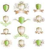 designer inställd sköld Royaltyfria Bilder