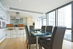 designer interior of dining area and kitchen Royalty Free Stock Photos