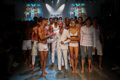 Designer  Jason Scarlatti and models walk the runway finale during 2(X)IST Men's Spring/Summer 2016 Runway Show Stock Photo