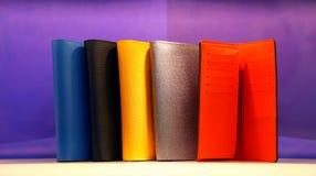 Designer leather wallets Stock Image