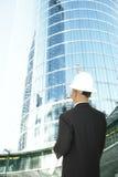 Designer Looking At Modern Building Stock Photo