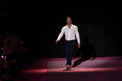 Designer Marc Jacobs greets the audience on the runway at Marc Jacobs during MBFW Spring 2015 Stock Image