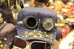 Designer motorcycle cap closeup Stock Images