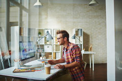 Designer at office Royalty Free Stock Photos