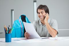 Designer On a Phone Call Stock Images
