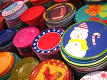 Designer Plates Stock Image