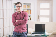 Designer or programmer at work royalty free stock photos