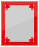 Designer Red Photo Frame Royalty Free Stock Photos