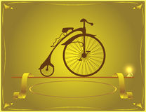Designer of retro bicycles Royalty Free Stock Photography