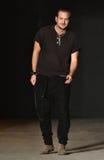 Designer Robert Geller walks the runway after Robert Geller Show Stock Photos