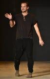 Designer Robert Geller walks the runway after Robert Geller Show Stock Image