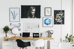 Designer`s home office Stock Photography