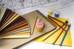 Designer ` s Instrumente Stockfoto