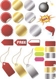 Designer's sales kit. A set of isolated colored elements for sales design Stock Photo
