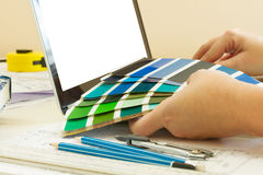 Designer's working table Royalty Free Stock Photo