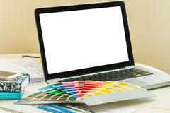 Designer's working table Stock Photos