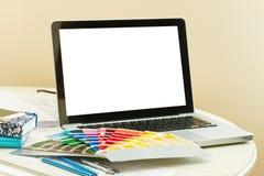 Designer's working table Stock Photo