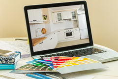 Designer's working table Royalty Free Stock Photography
