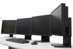 Designer's workplace with monitors Royalty Free Stock Image