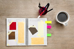 Designer scrap book Stock Photography