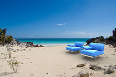 Designer seats in the tropics Royalty Free Stock Photography