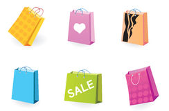 Designer Shopping bags icons Stock Images