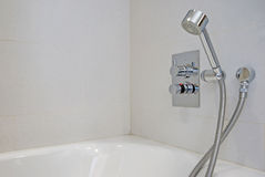 Designer shower attachment Stock Photography