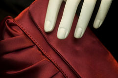 Designer silk purse bag Stock Images