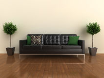 Designer sofa with plants Stock Image