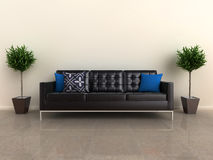 Designer sofa with plants Stock Photos