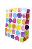 Designer spotty shopping bag Stock Photography