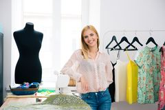 Designer standing in workshop Royalty Free Stock Images