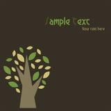 Designer stylized tree Royalty Free Stock Images