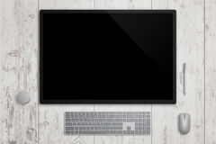 Designer surface display studio in horizontal position Royalty Free Stock Photography