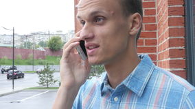 Designer Talking on Phone. Creative designer , businessman stock footage