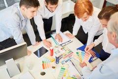 Designer team in creative workshop Stock Image