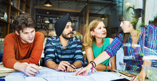 Designer Teamwork Brainstorming Planning Interior Concept Stock Photos