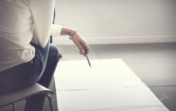 Designer Thinking Ideas Creative Layout Concept Royalty Free Stock Photo