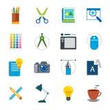 Designer tool flat icon Royalty Free Stock Photos