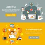 Designer Tools Banner Set Lizenzfreie Stockbilder