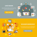 Designer Tools Banner Set Royalty Free Stock Images