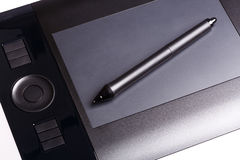 Designer tools. Pen tablet. Stock Photos