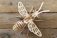 Designer toy plane from wooden parts Stock Photo