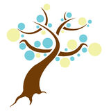 Designer tree. Illustration isolated over a white background Stock Image