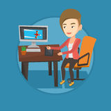 Designer using digital graphics tablet. Stock Images